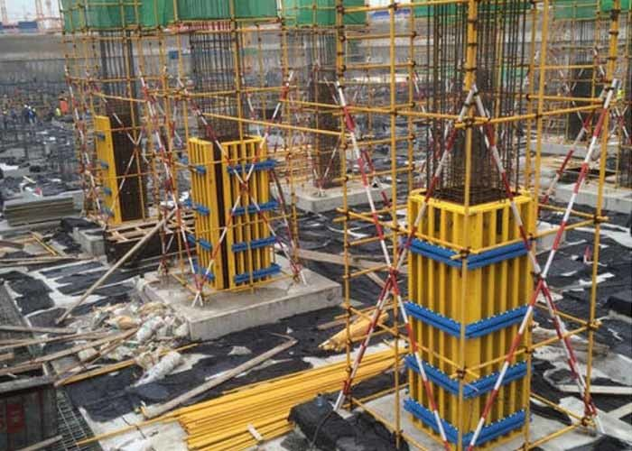 Circular Column Formwork System Universal Forming Size With Timer Beam H20
